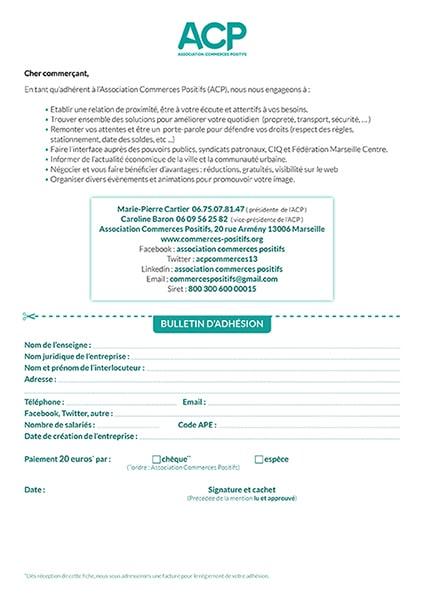 Bulletin d'adhésion à l'ACP