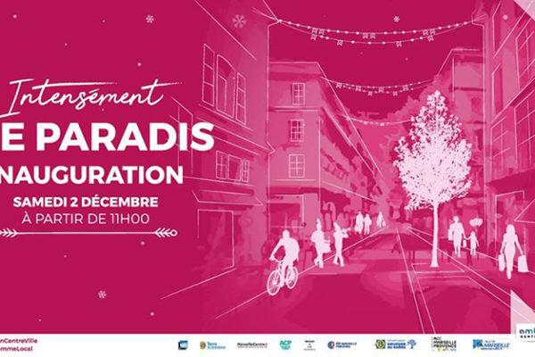 Inauguration de la rue Paradis 2 décembre 2017