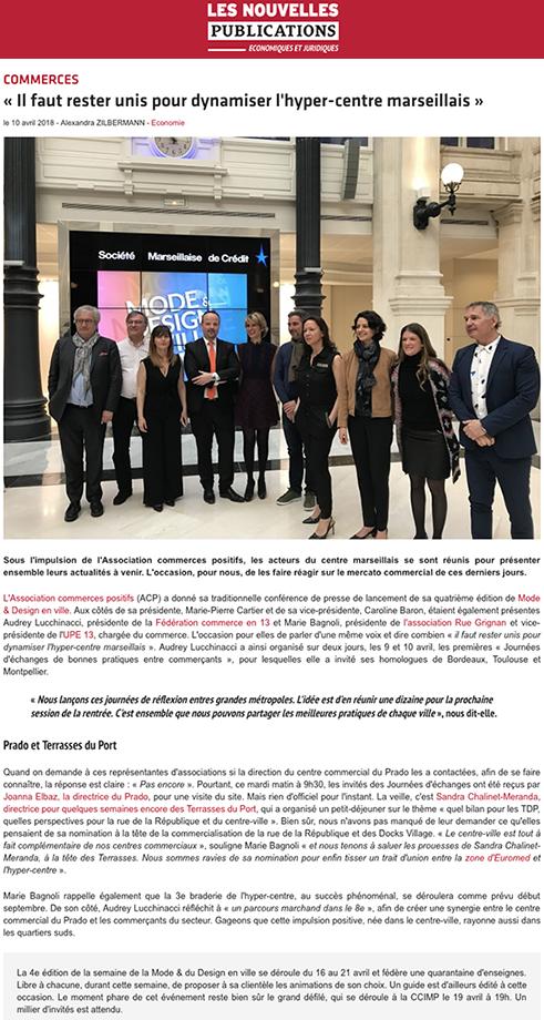 Article dans Les Nouvelles Publications - Mode & Design en ville 2018