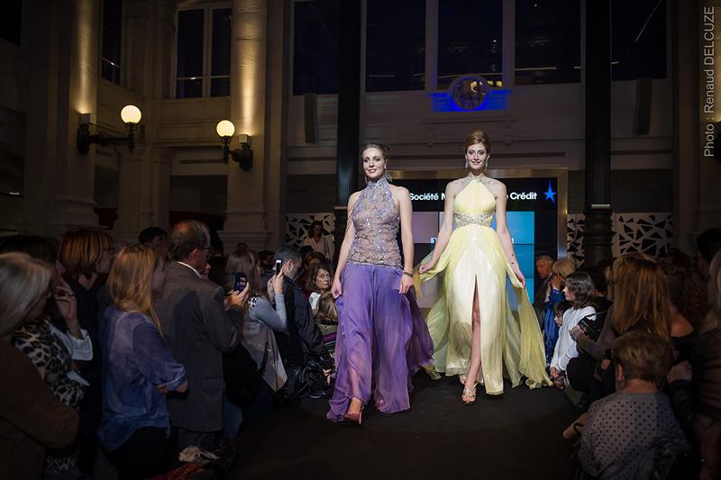 Défilé Mode et Design en ville 1ère édition à la Société Marseillaise de Crédit, 2015
