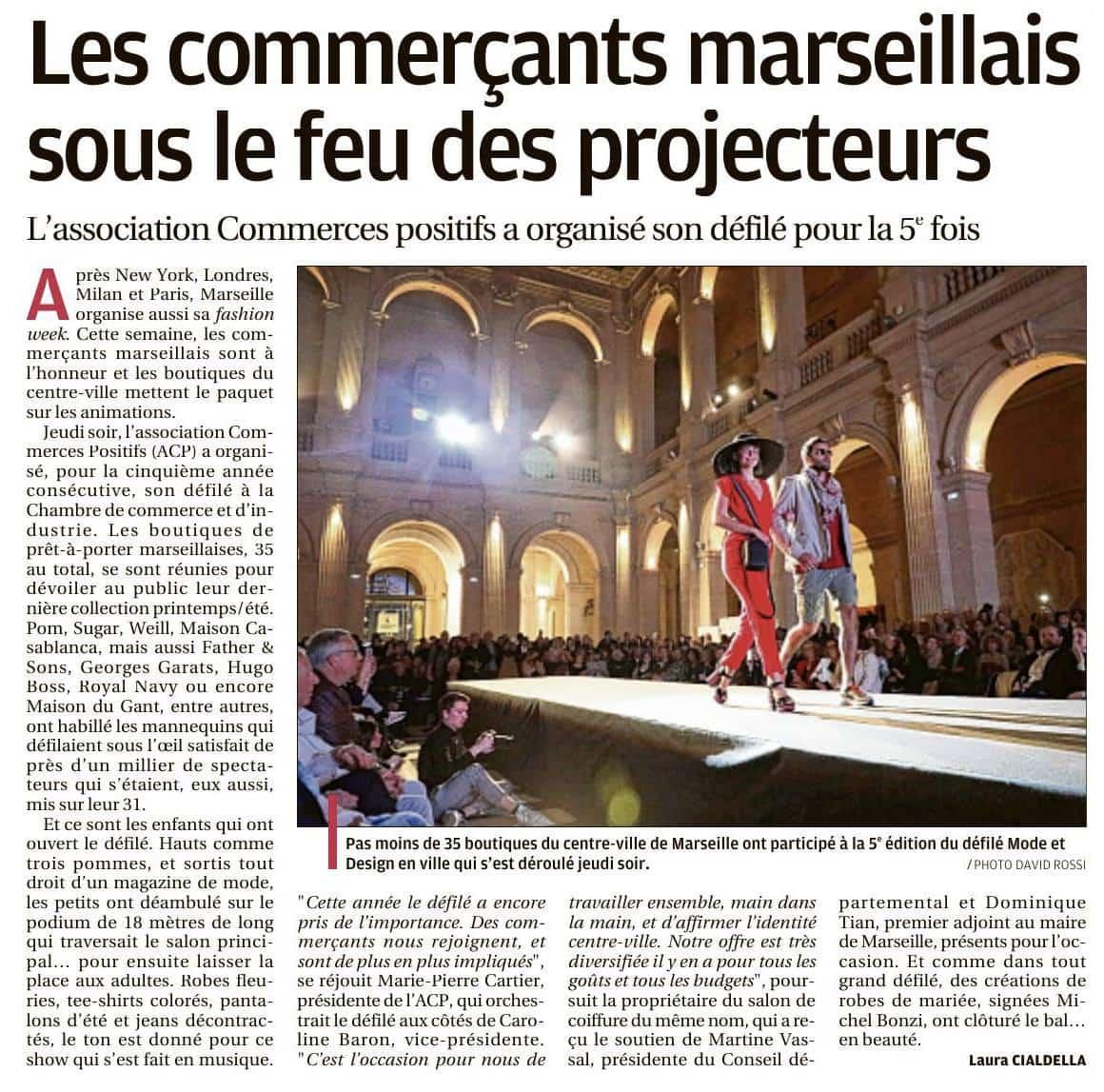 article La Provence 6 avril 2019 - Défilé Mode & Design en ville