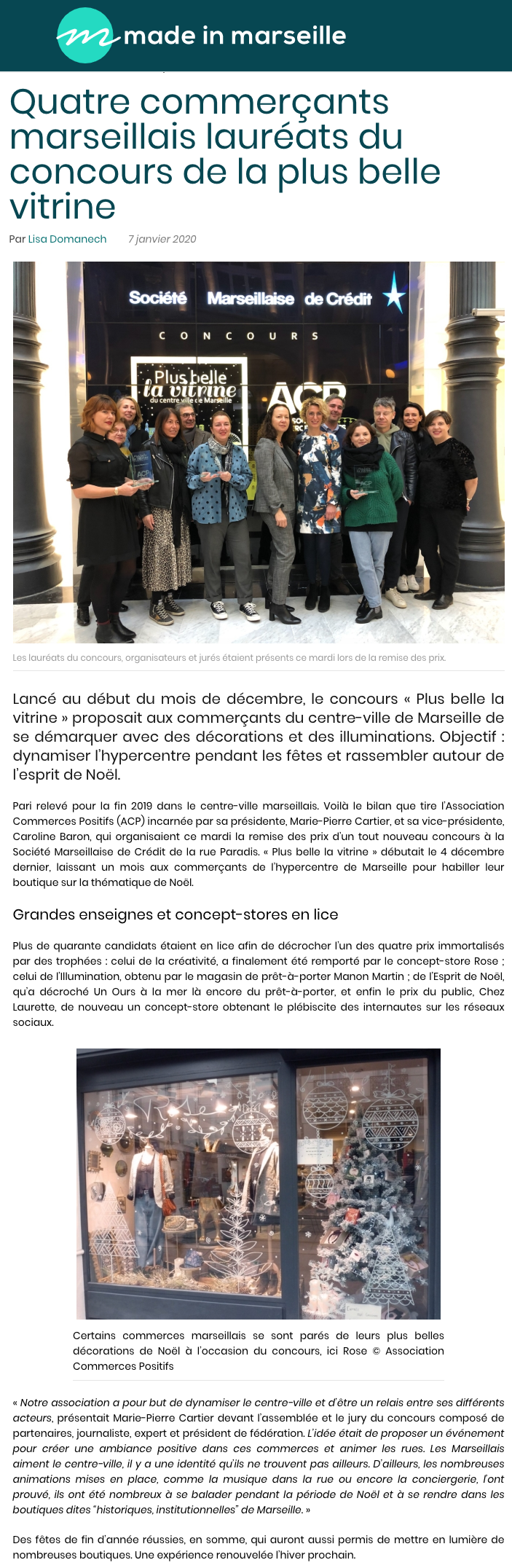concours vitrine made in marseille